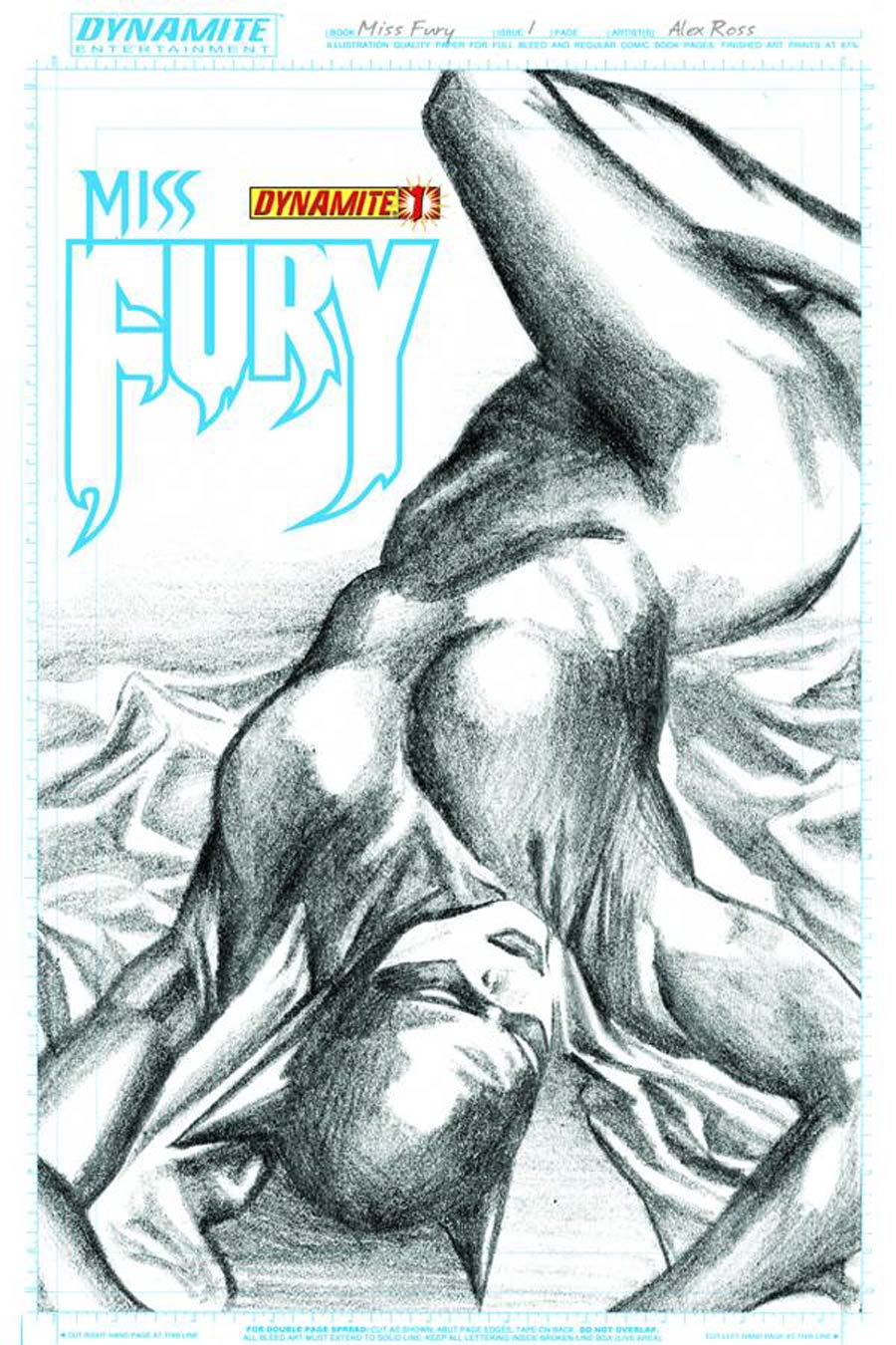 Miss Fury Vol 2 #1 Cover I  Incentive Alex Ross Sketch Cover