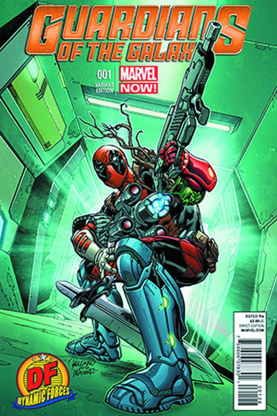 Guardians Of The Galaxy Vol 3 #1 Cover N DF Exclusive Carlo Pagulayan Deadpool Variant Cover CGC 9.8