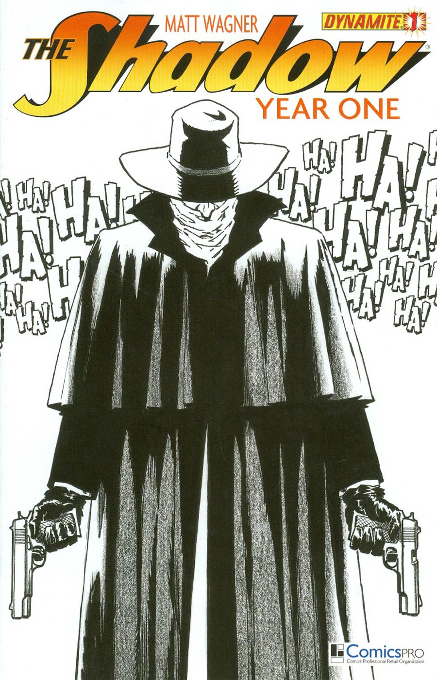 Shadow Year One #1 Cover O DF Exclusive Comicspro Matt Wagner Black & White Cover