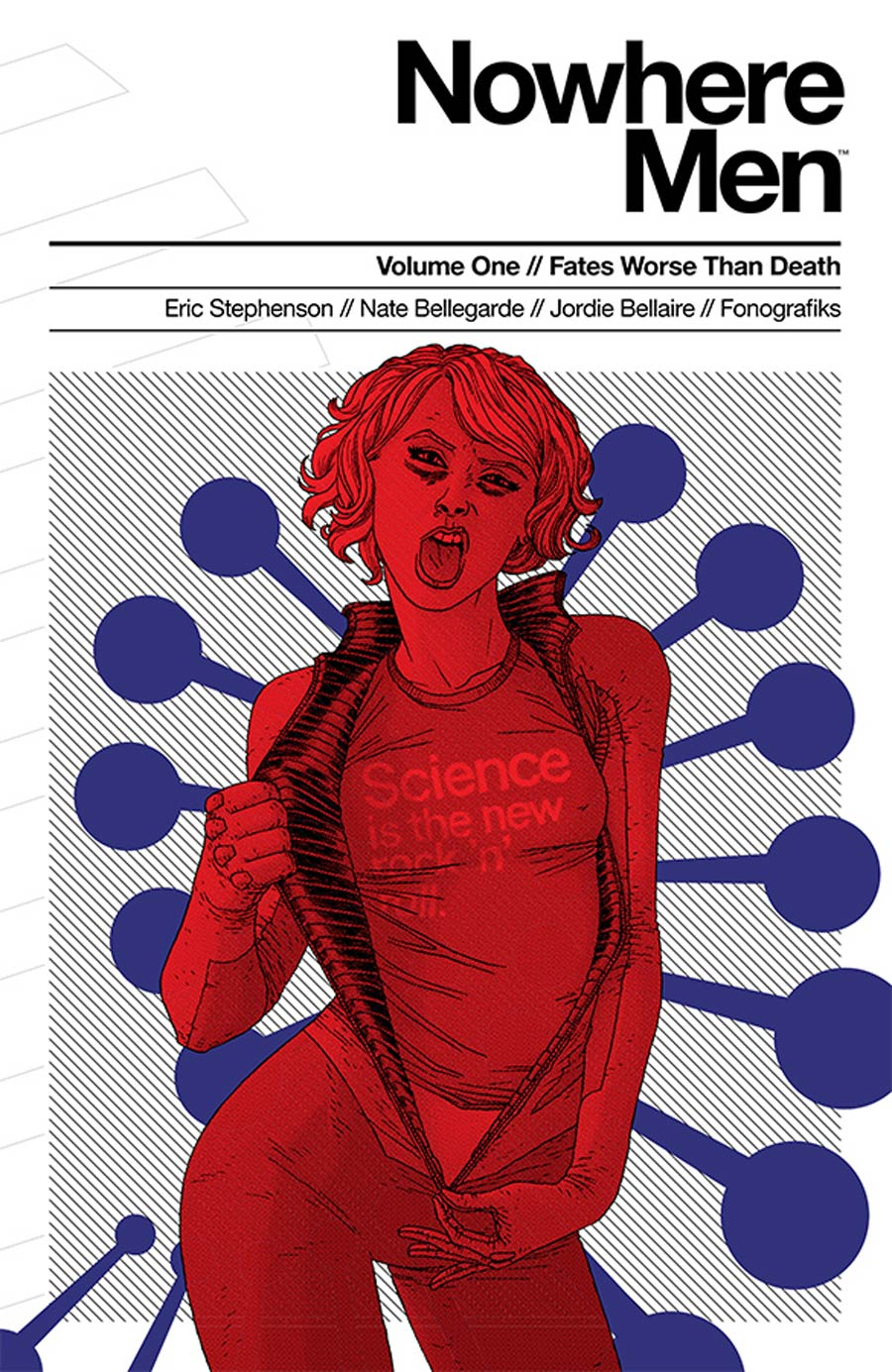 Nowhere Men Vol 1 Fates Worse Than Death TP 1st Printing Cover