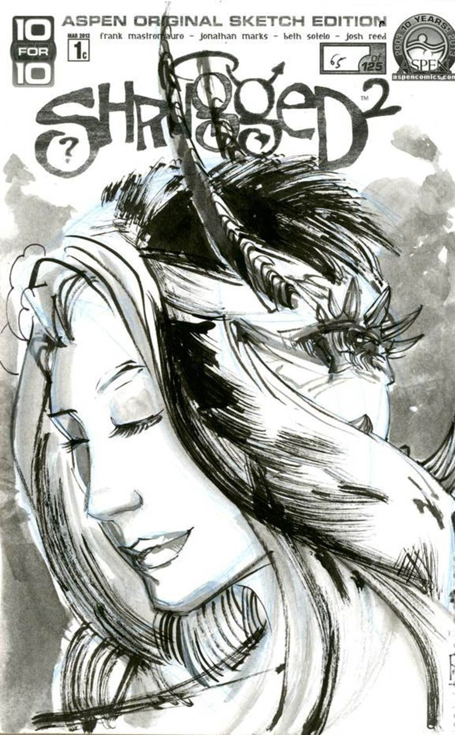 Shrugged Vol 2 #1 Cover D Incentive Jonathan Marks Hand-Drawn Sketch Variant Cover