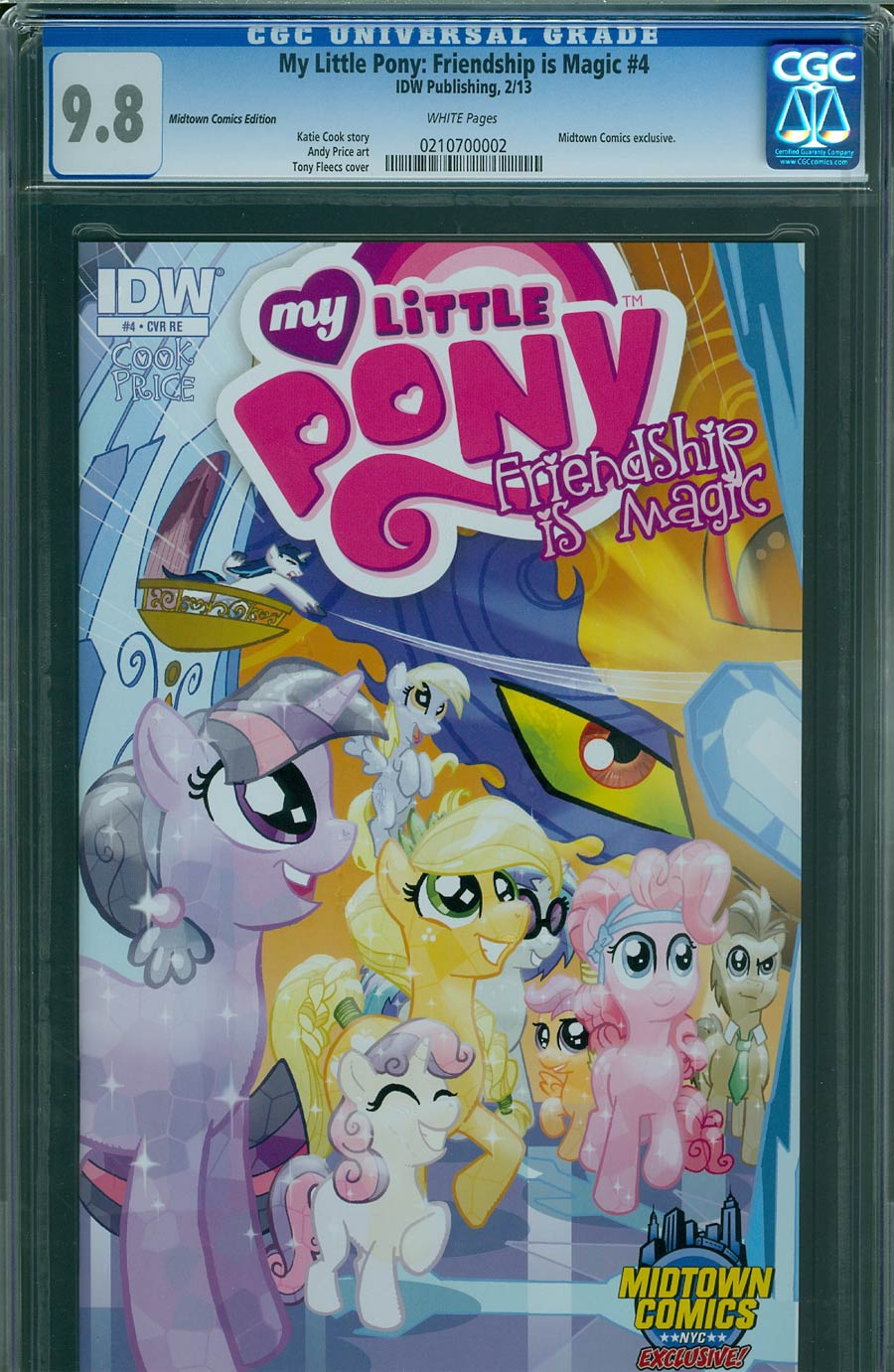 My Little Pony Friendship Is Magic #4 Midtown Exclusive Tony Fleecs Crystal Ponies Part 1 Of 2 Variant Cover CGC 9.8