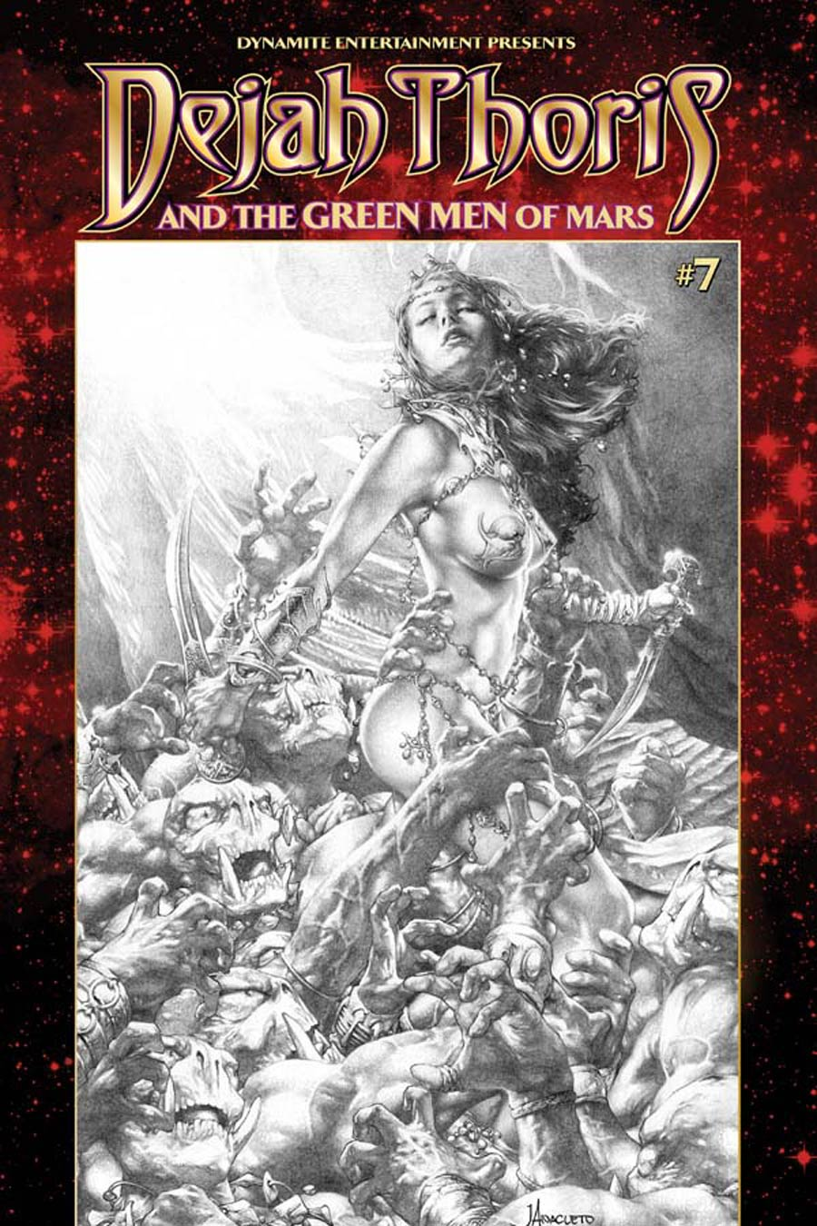 Dejah Thoris And The Green Men Of Mars #7 Cover B Variant Jay Anacleto Black & White Subscription Cover