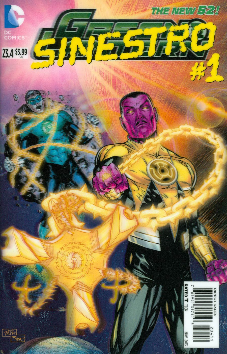 Green Lantern Vol 5 #23.4 Sinestro Cover A 1st Ptg 3D Motion Cover