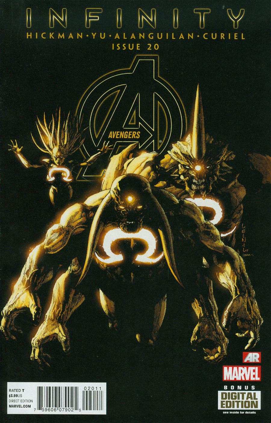 Avengers Vol 5 #20 Cover A Regular Leinil Francis Yu Cover (Infinity Tie-In)