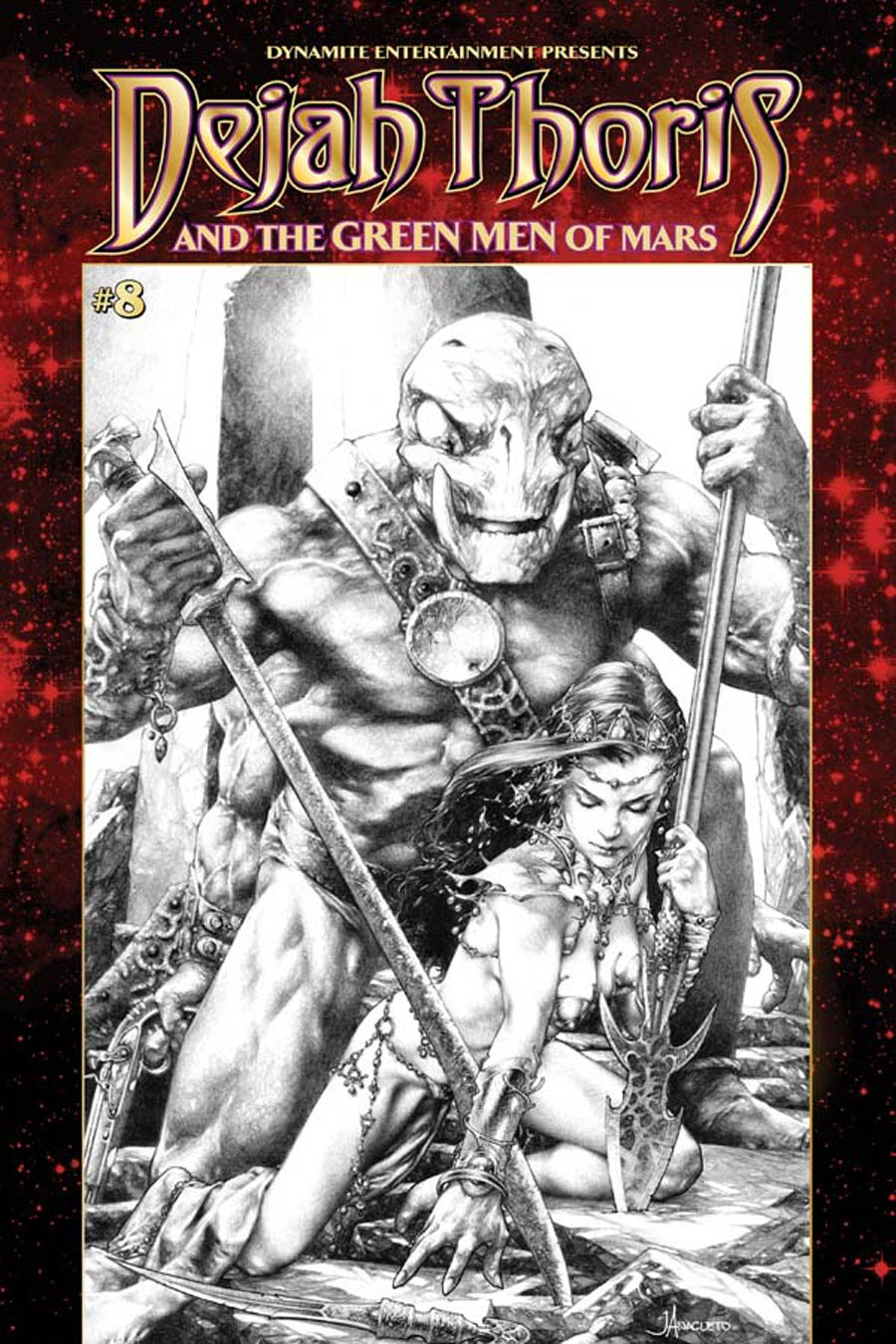 Dejah Thoris And The Green Men Of Mars #8 Cover B Variant Jay Anacleto Black & White Subscription Cover