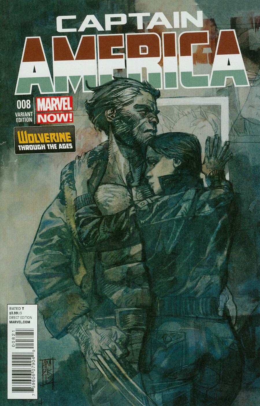 Captain America Vol 7 #8 Cover B Incentive Wolverine Through The Ages Variant Cover