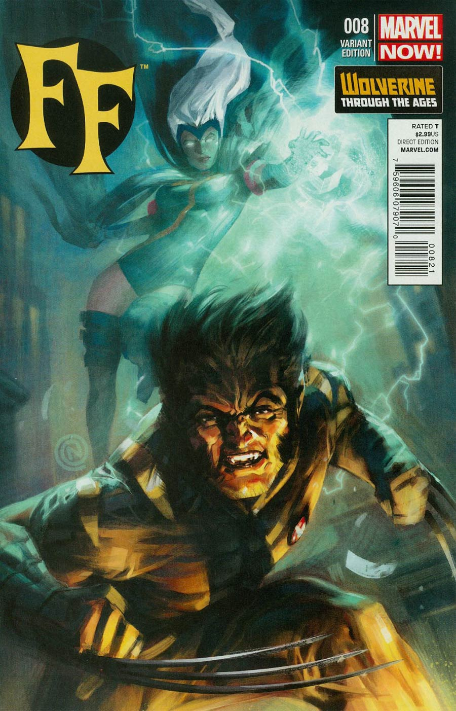 FF Vol 2 #8 Cover B Incentive Wolverine Through The Ages Variant Cover