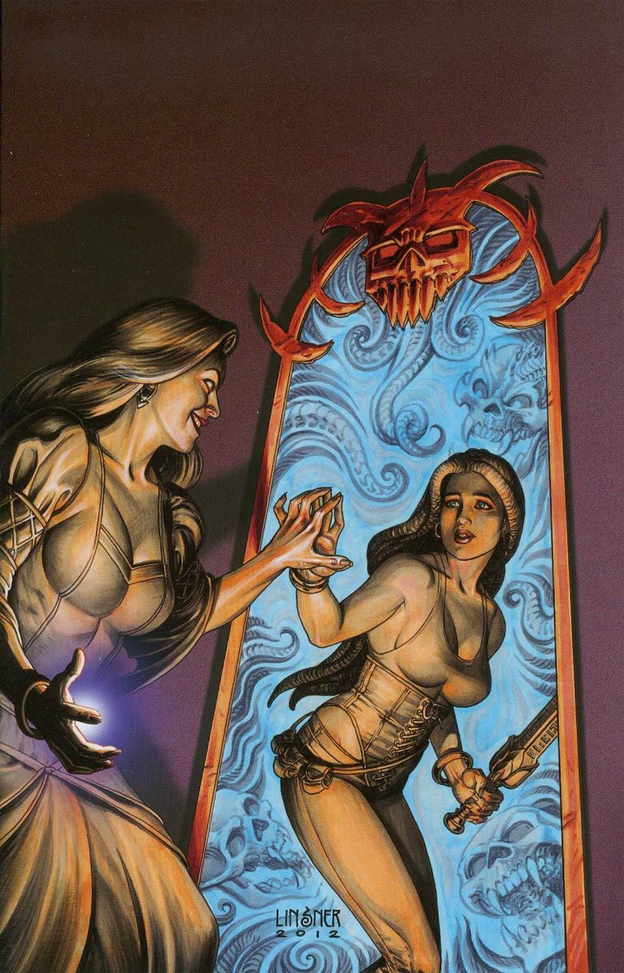 Damsels #8 Cover B Incentive Joseph Michael Linsner Virgin Cover