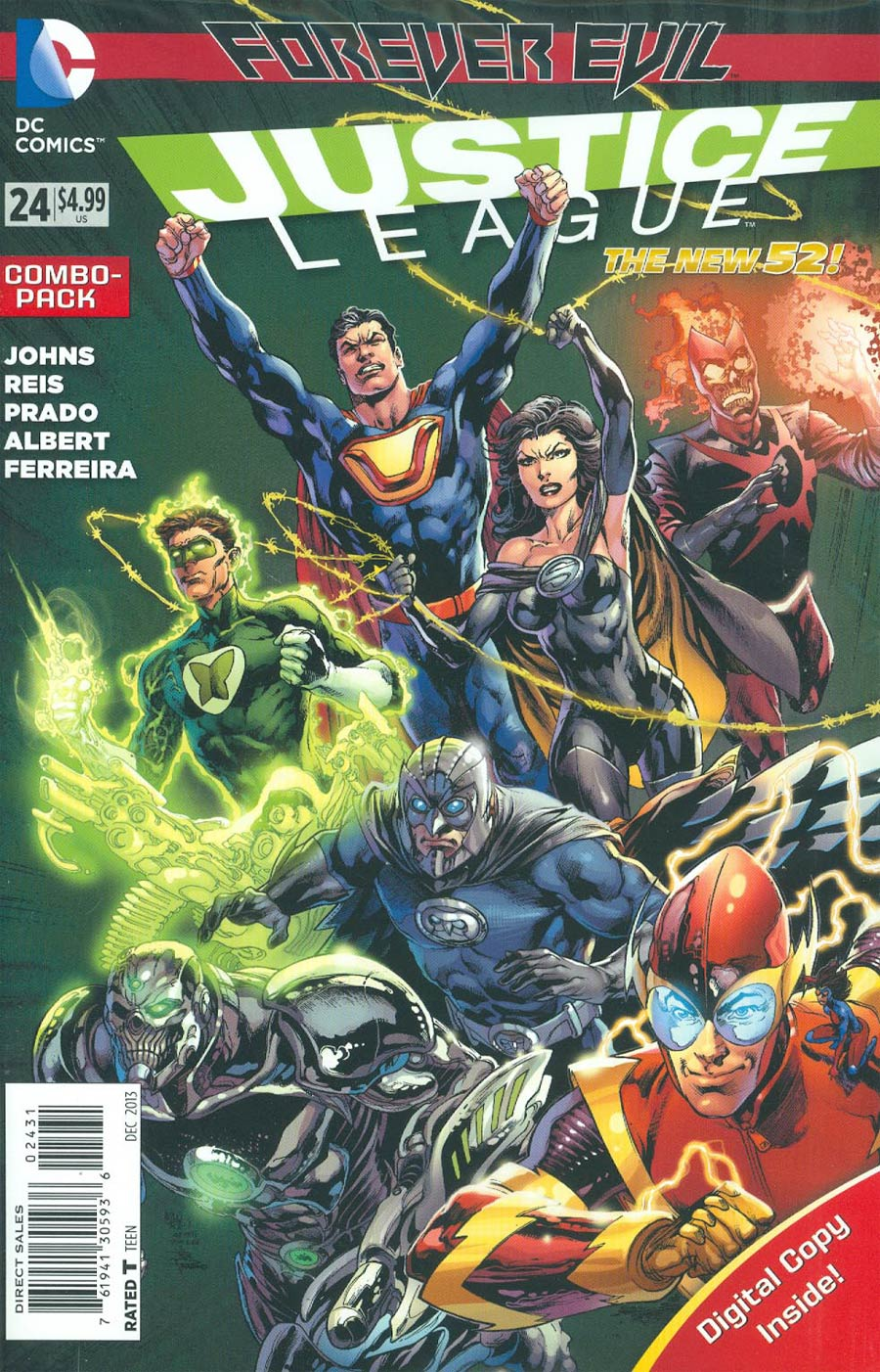 Justice League Vol 2 #24 Cover B Combo Pack With Polybag (Forever Evil Tie-In)
