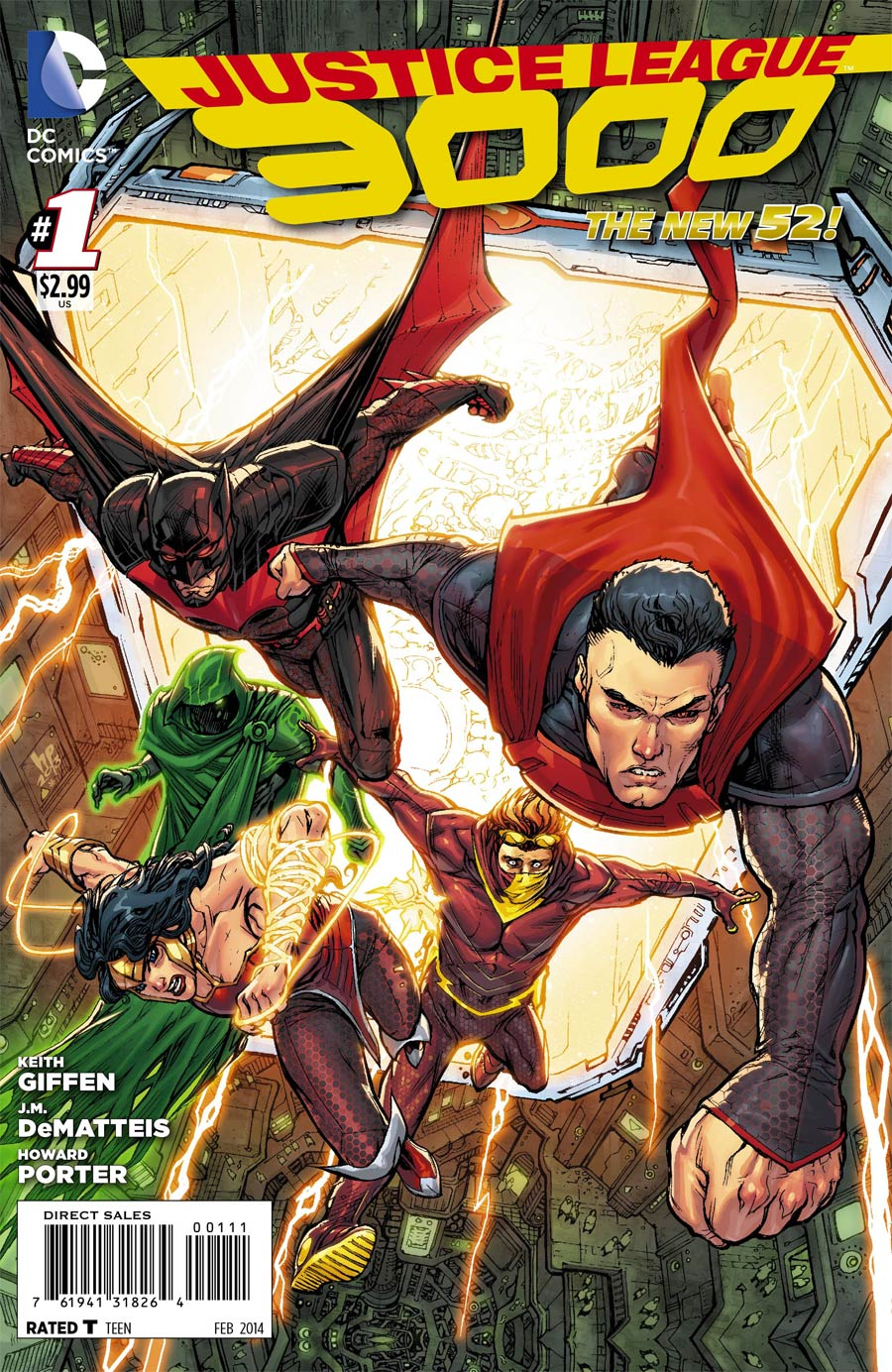 Justice League 3000 #1 Cover A Regular Howard Porter Cover