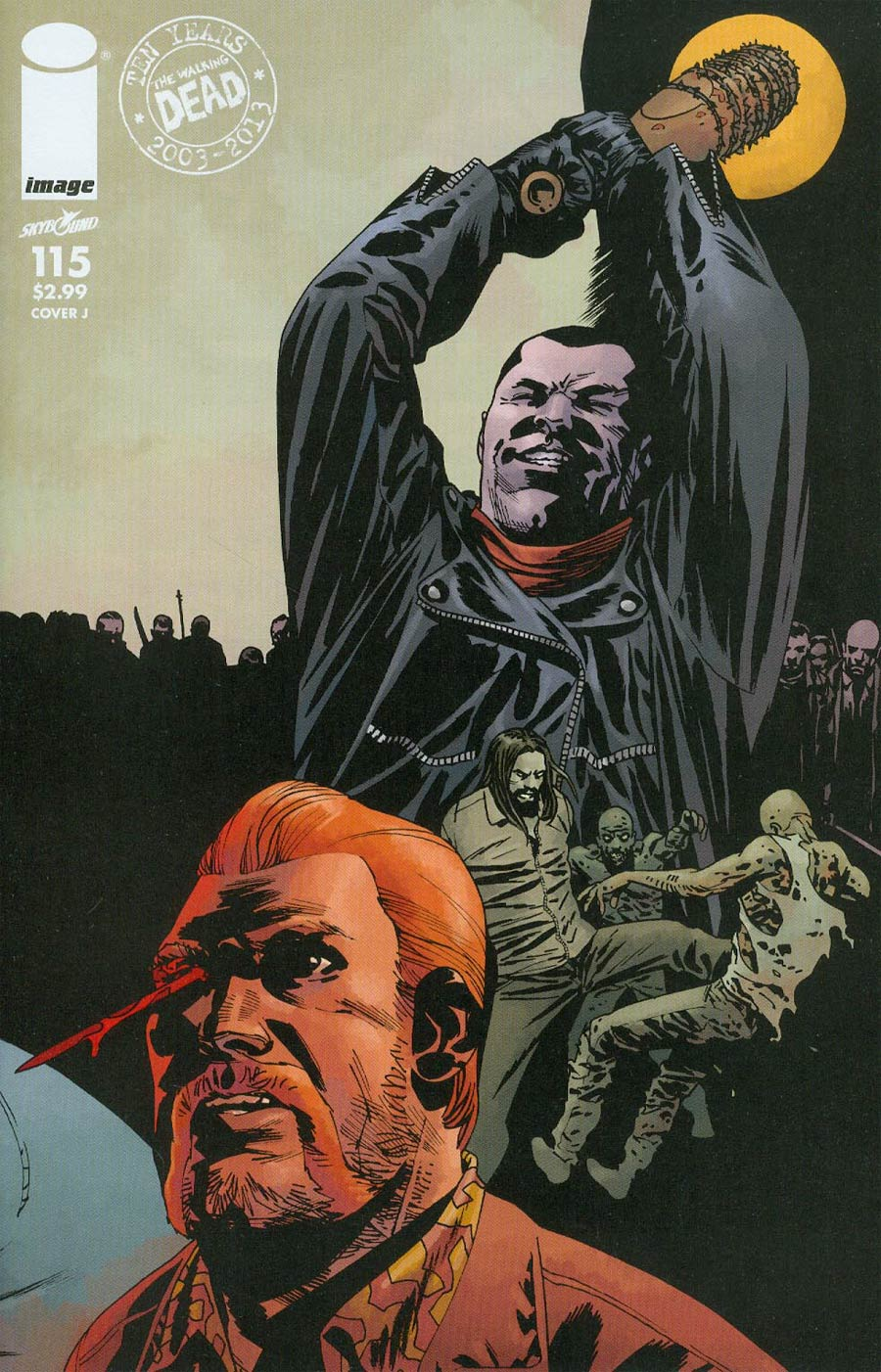 Walking Dead #115 Cover J Connecting Cover Year 9