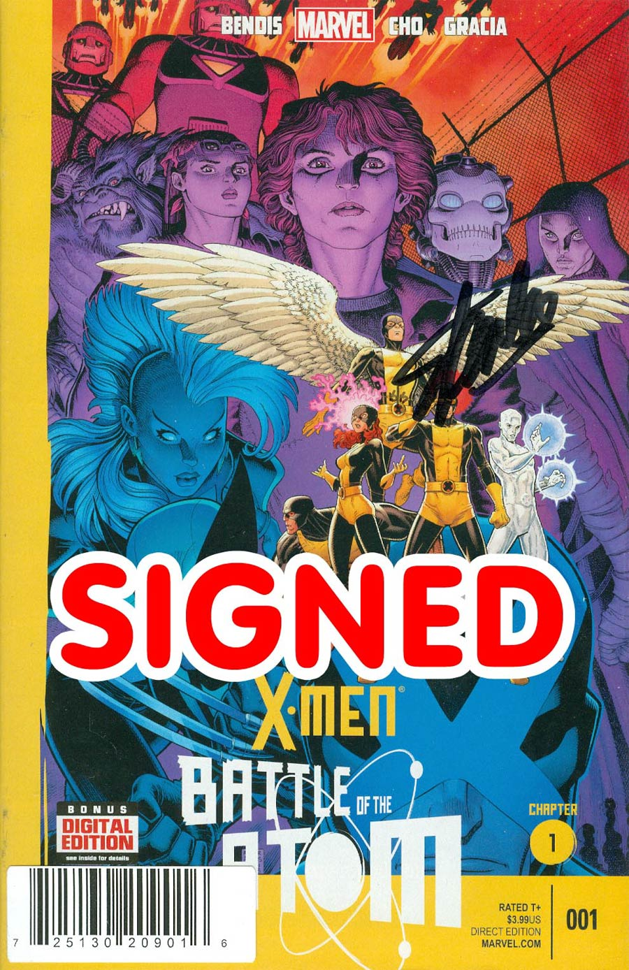 X-Men Battle Of The Atom #1 Cover F DF Signed By Stan Lee