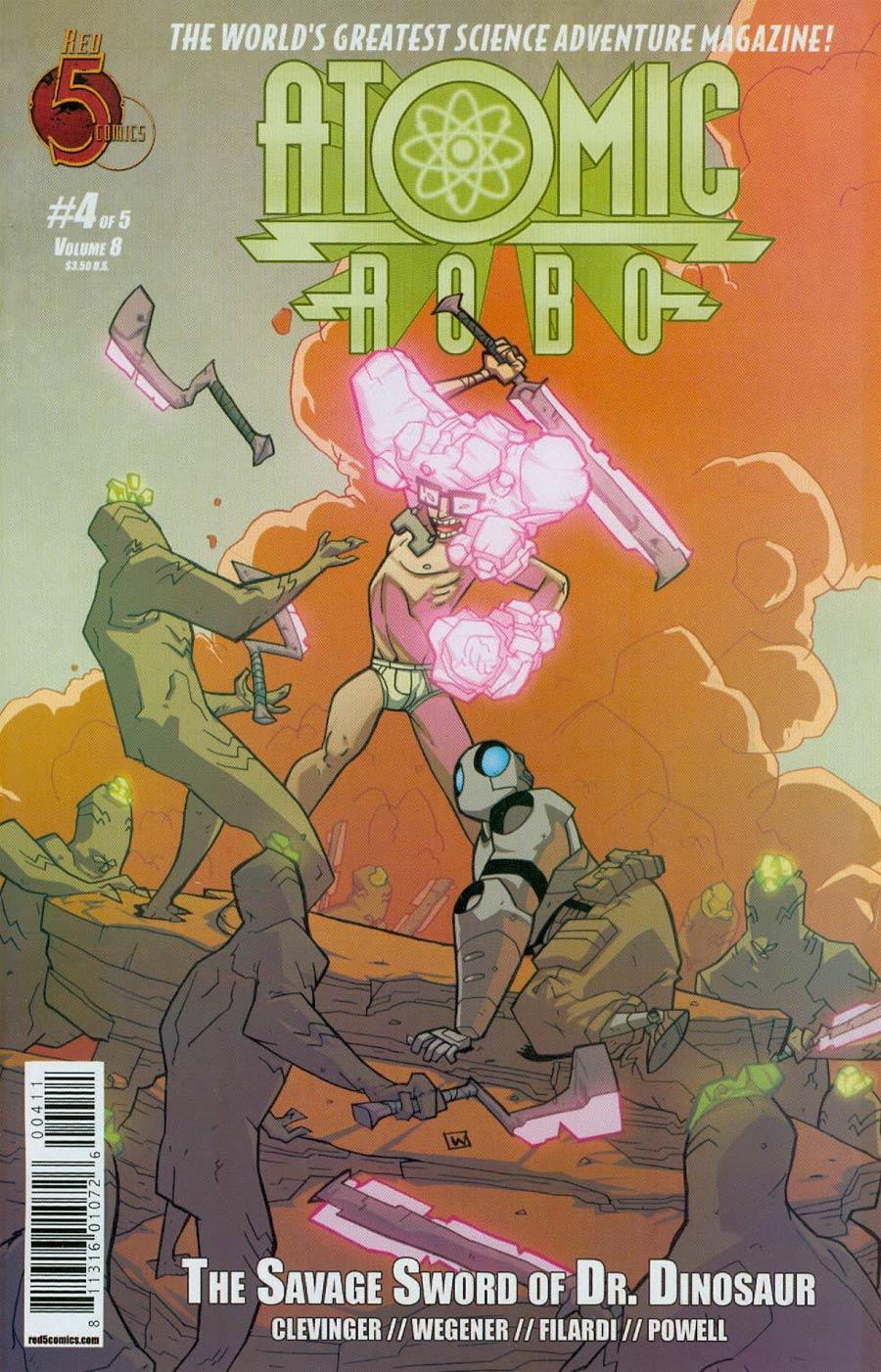 Atomic Robo And The Savage Sword Of Dr Dinosaur #4