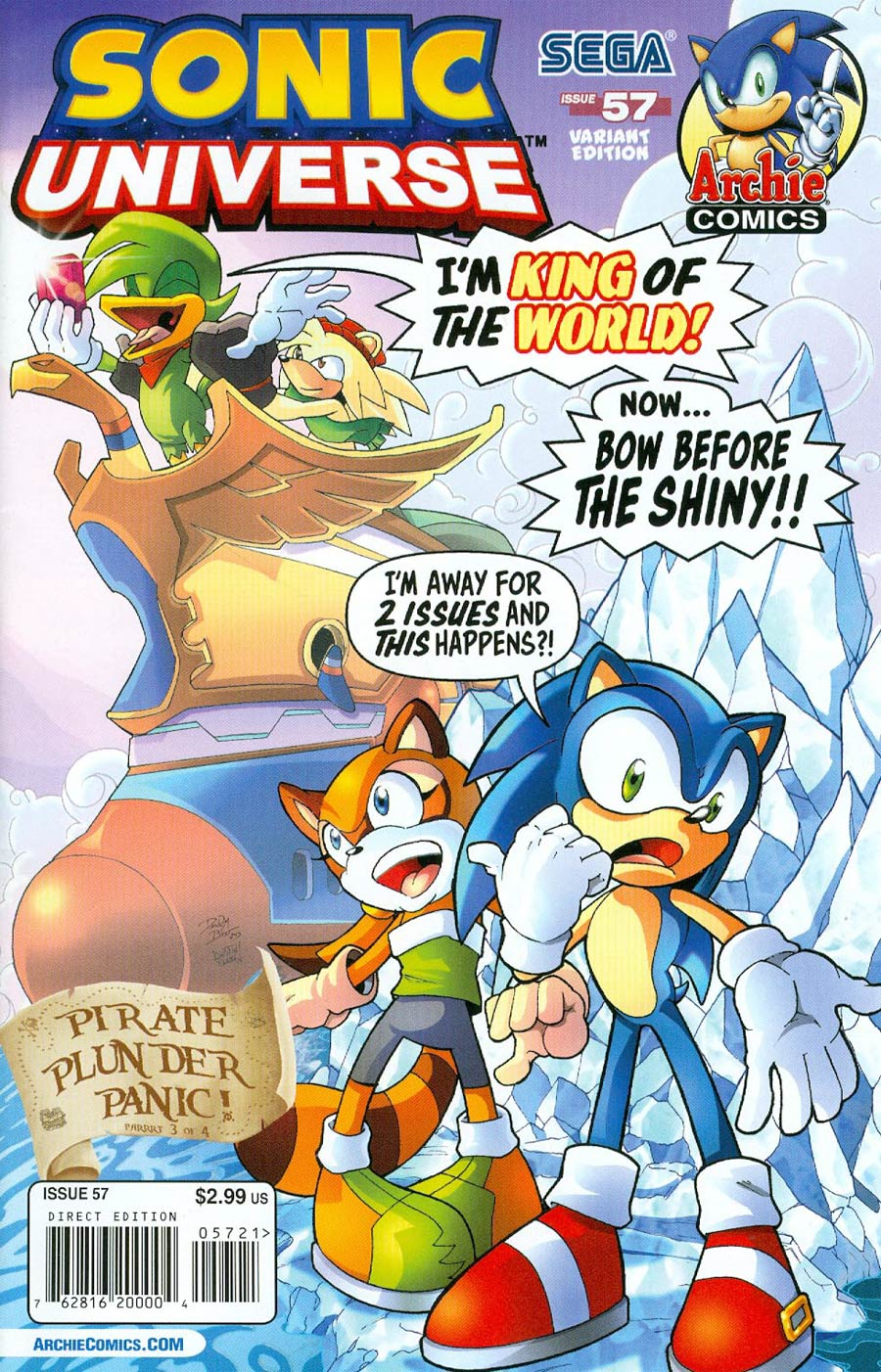 Sonic Universe #57 Cover B Variant Titanic Cover