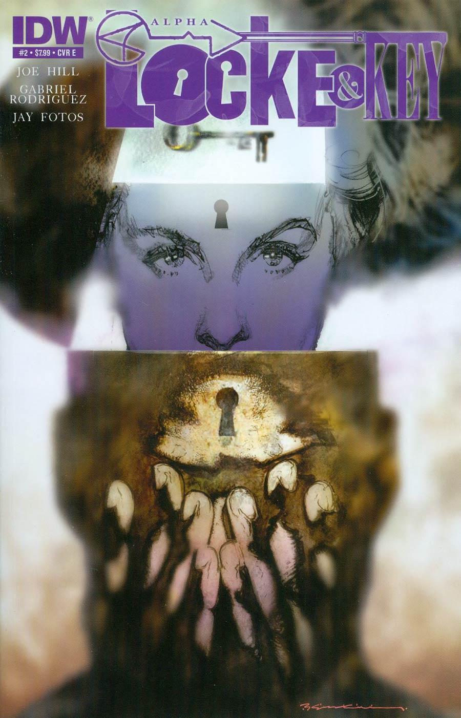 Locke & Key Alpha #2 Cover E Regular Bill Sienkiewicz Cover