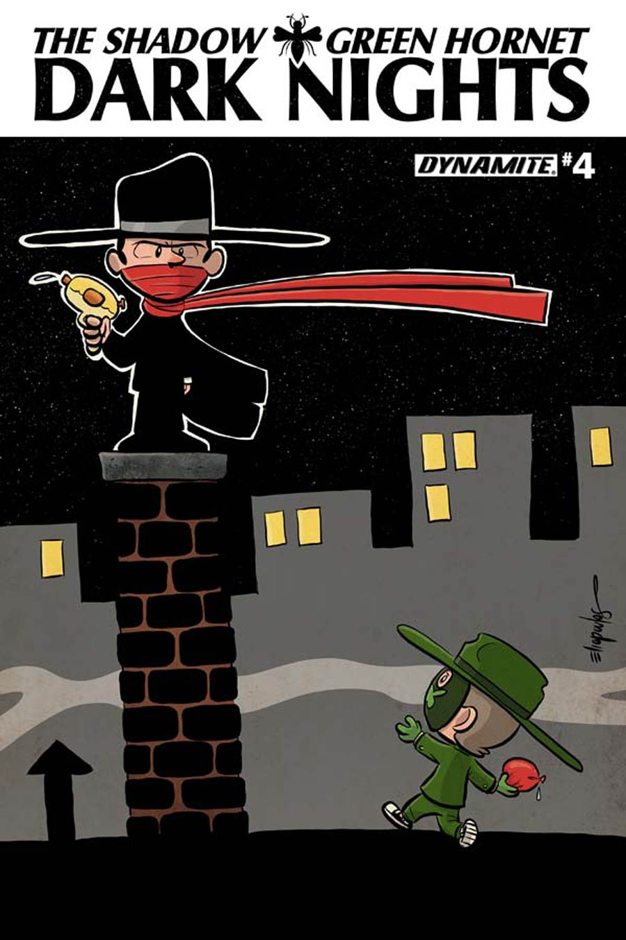 Shadow Green Hornet Dark Nights #4 Cover C Variant Chris Eliopoulos Cute Subscription Cover