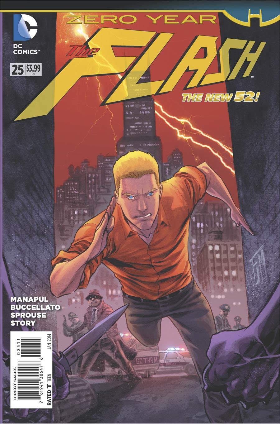 Flash Vol 4 #25 Cover A Regular Francis Manapul Cover (Batman Zero Year Tie-In)