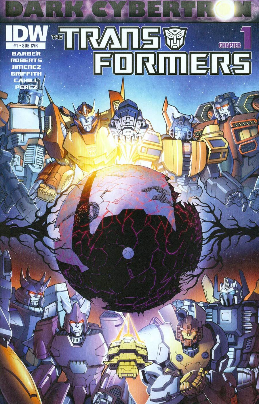 Transformers Dark Cybertron #1 Cover B Variant Casey Coller Subscription Cover (Dark Cybertron Part 1)