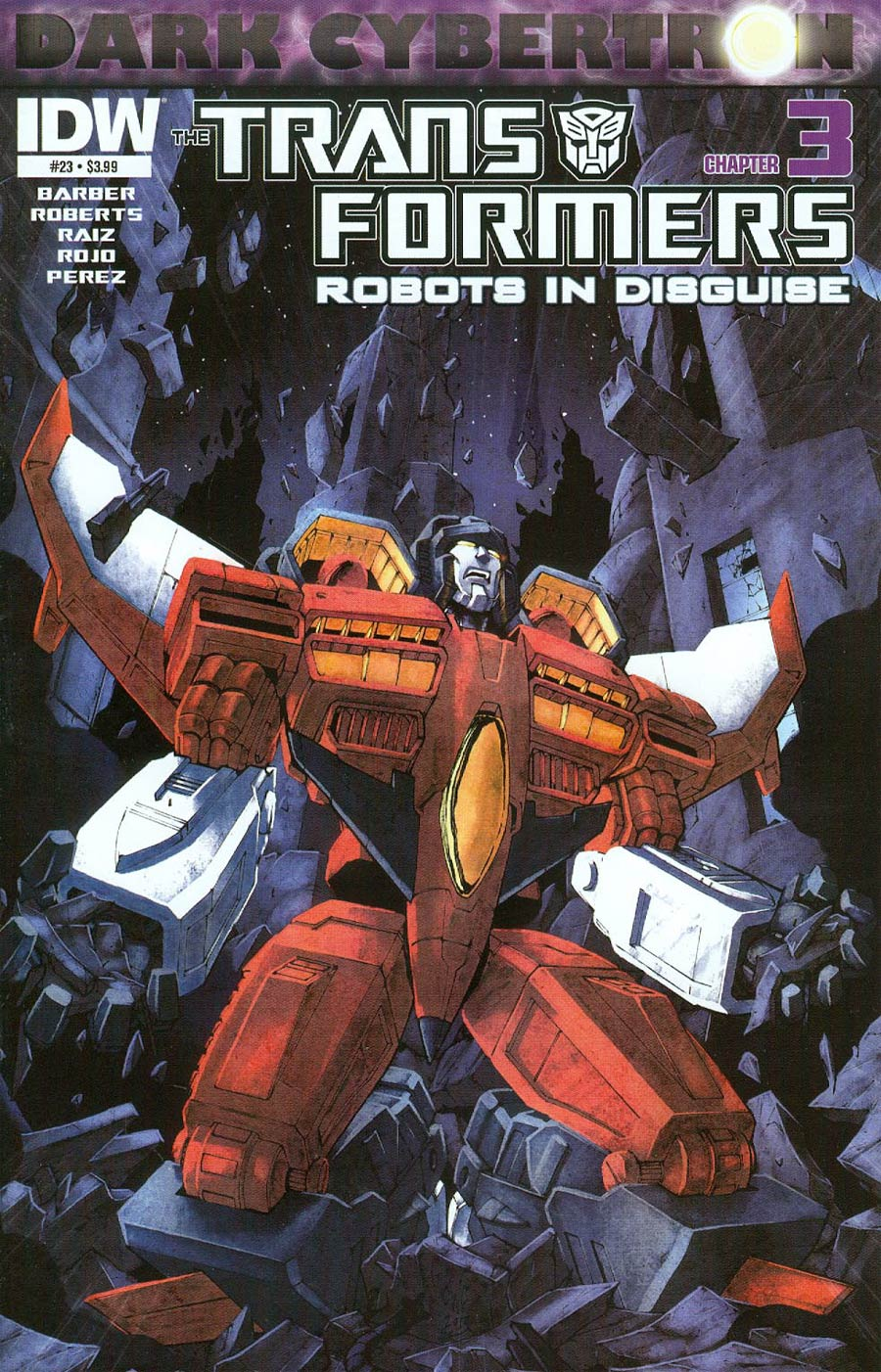 Transformers Robots In Disguise #23 Cover A Regular Casey Coller Cover (Dark Cybertron Part 3)