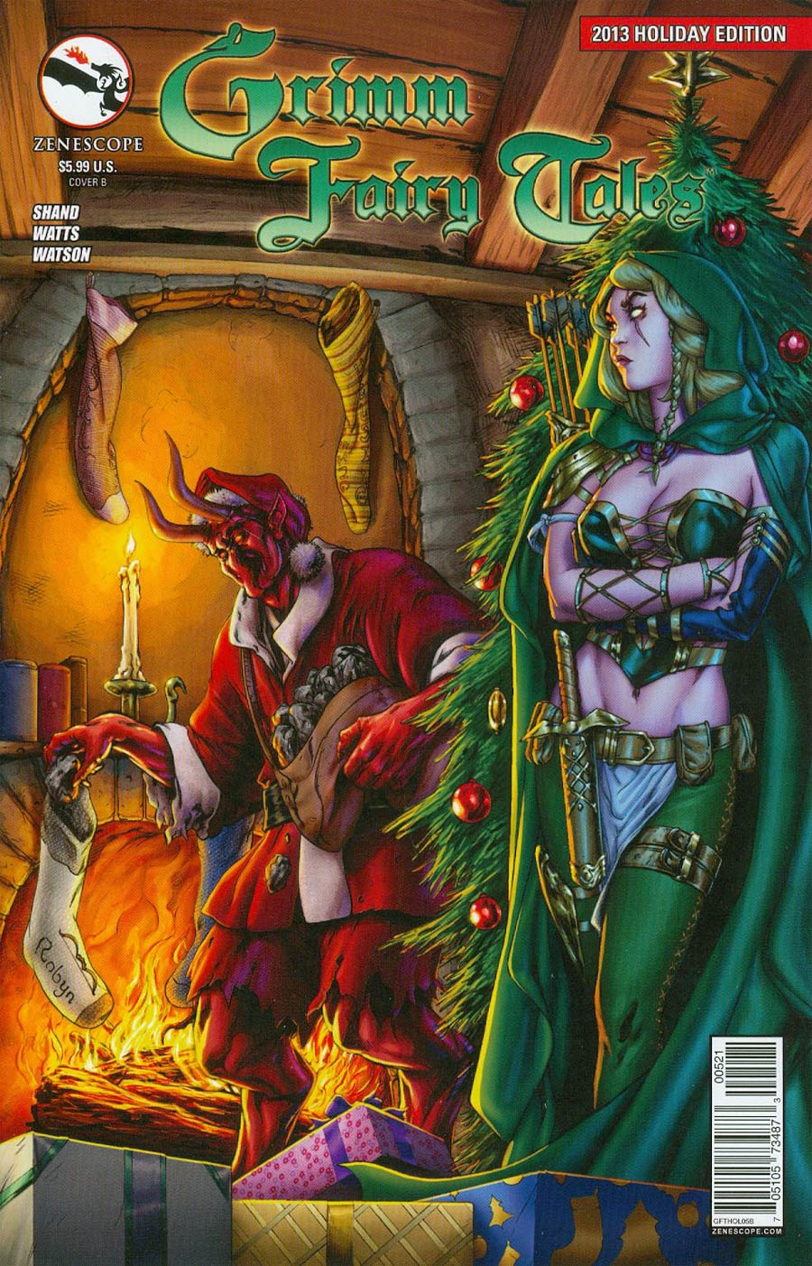 Grimm Fairy Tales 2013 Holiday Special Cover B Steven Cummings