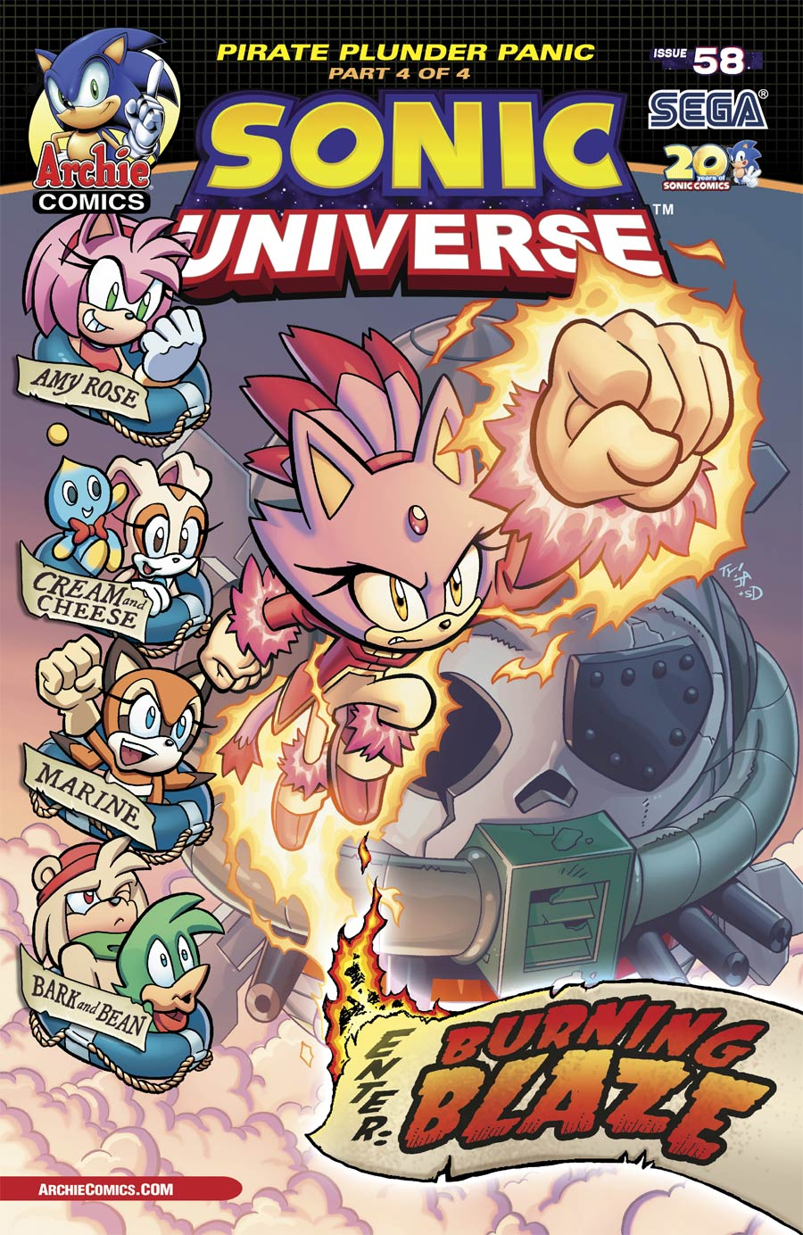 Sonic Universe #58 Cover A Regular Tracy Yardley Cover