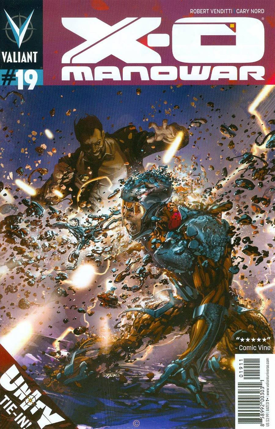 X-O Manowar Vol 3 #19 Cover A Regular Clayton Crain Cover (Unity Tie-In)