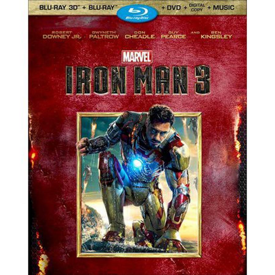 Iron Man 3 3-Disc 3D Bluray DVD