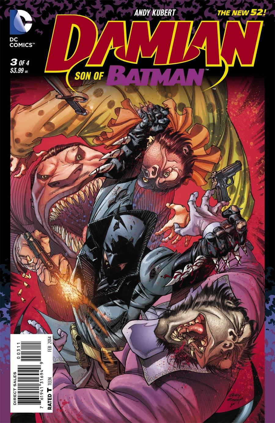 Damian Son Of Batman #3 Cover A Regular Andy Kubert Cover