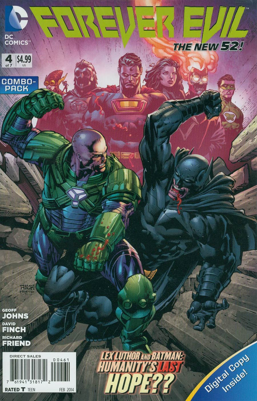 Forever Evil #4 Cover B Combo Pack With Polybag