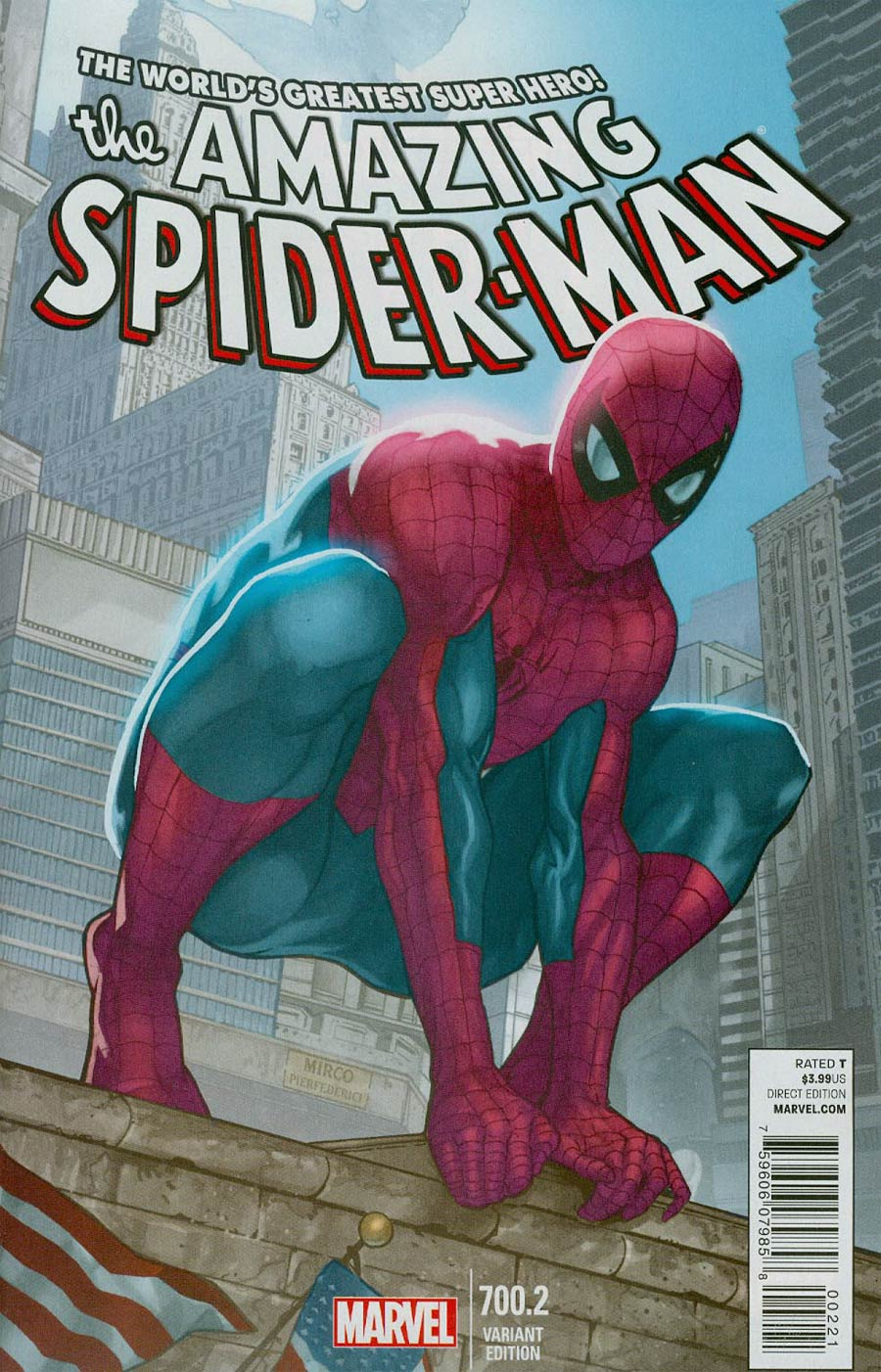 Amazing Spider-Man Vol 2 #700.2 Cover B Variant Mirco Federici Cover