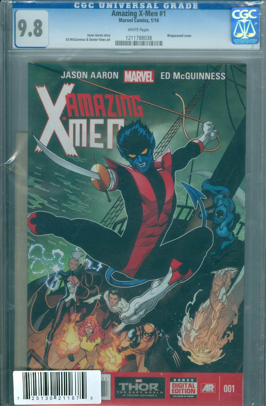 Amazing X-Men Vol 2 #1 Cover H DF CGC 9.8