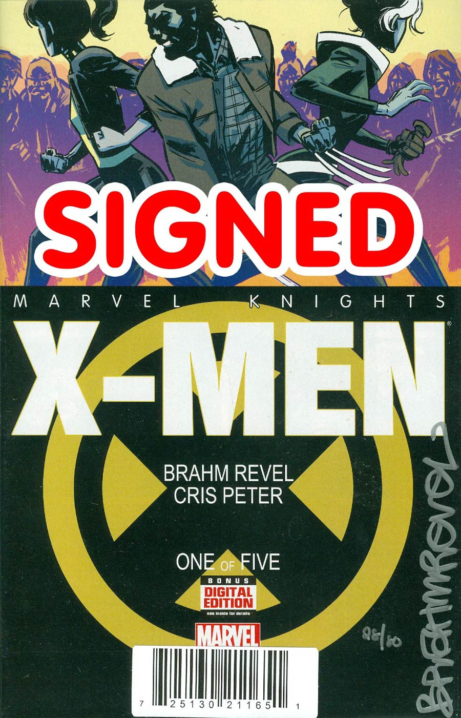 Marvel Knights X-Men #1 Cover C DF Signed By Brahm Revel