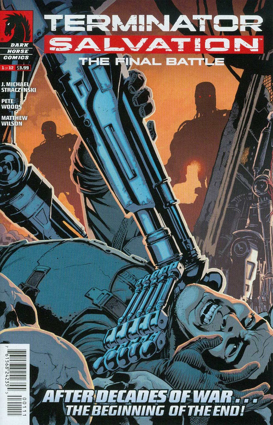 Terminator Salvation Final Battle #1 Cover A Regular Pete Woods Cover