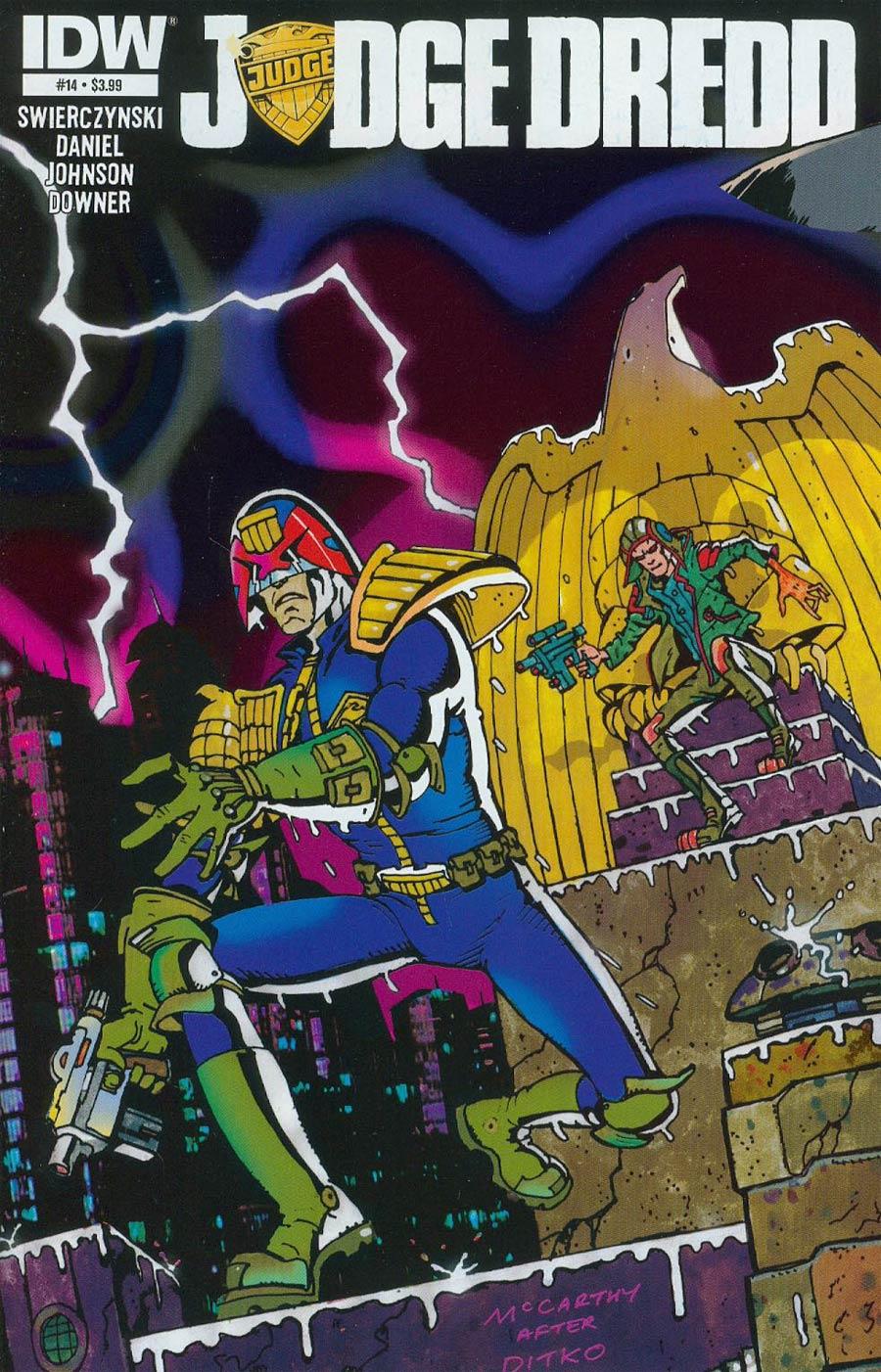 Judge Dredd Vol 4 #14 Cover A Regular Brendan McCarthy Cover