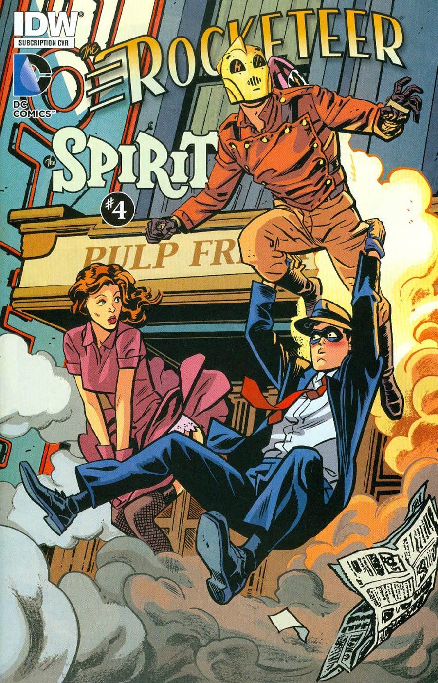 Rocketeer Spirit Pulp Friction #4 Cover B Variant Chris Samnee Subscription Cover