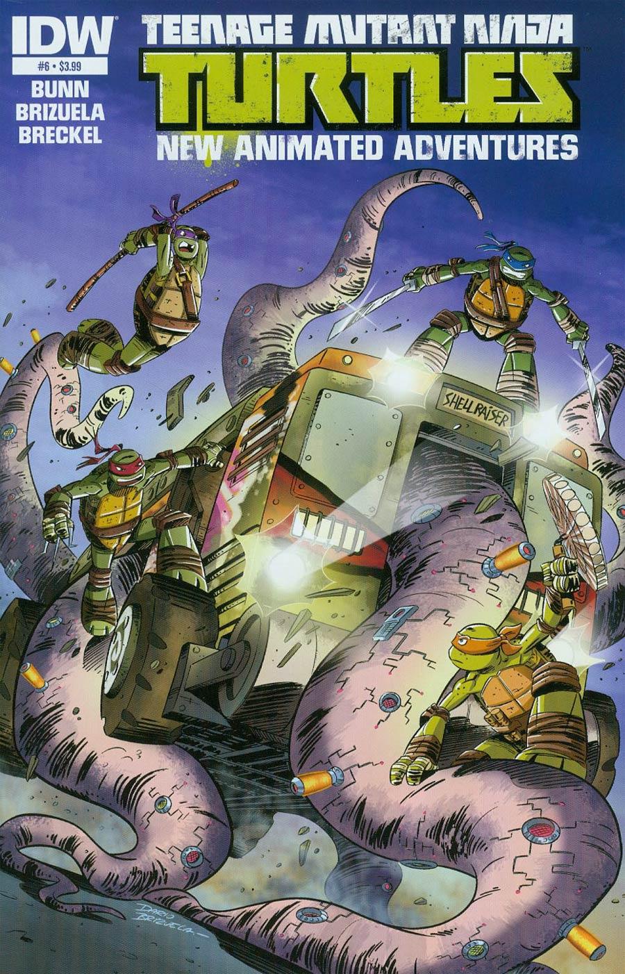 Teenage Mutant Ninja Turtles New Animated Adventures #6 Cover A Regular Dario Brizuela Cover