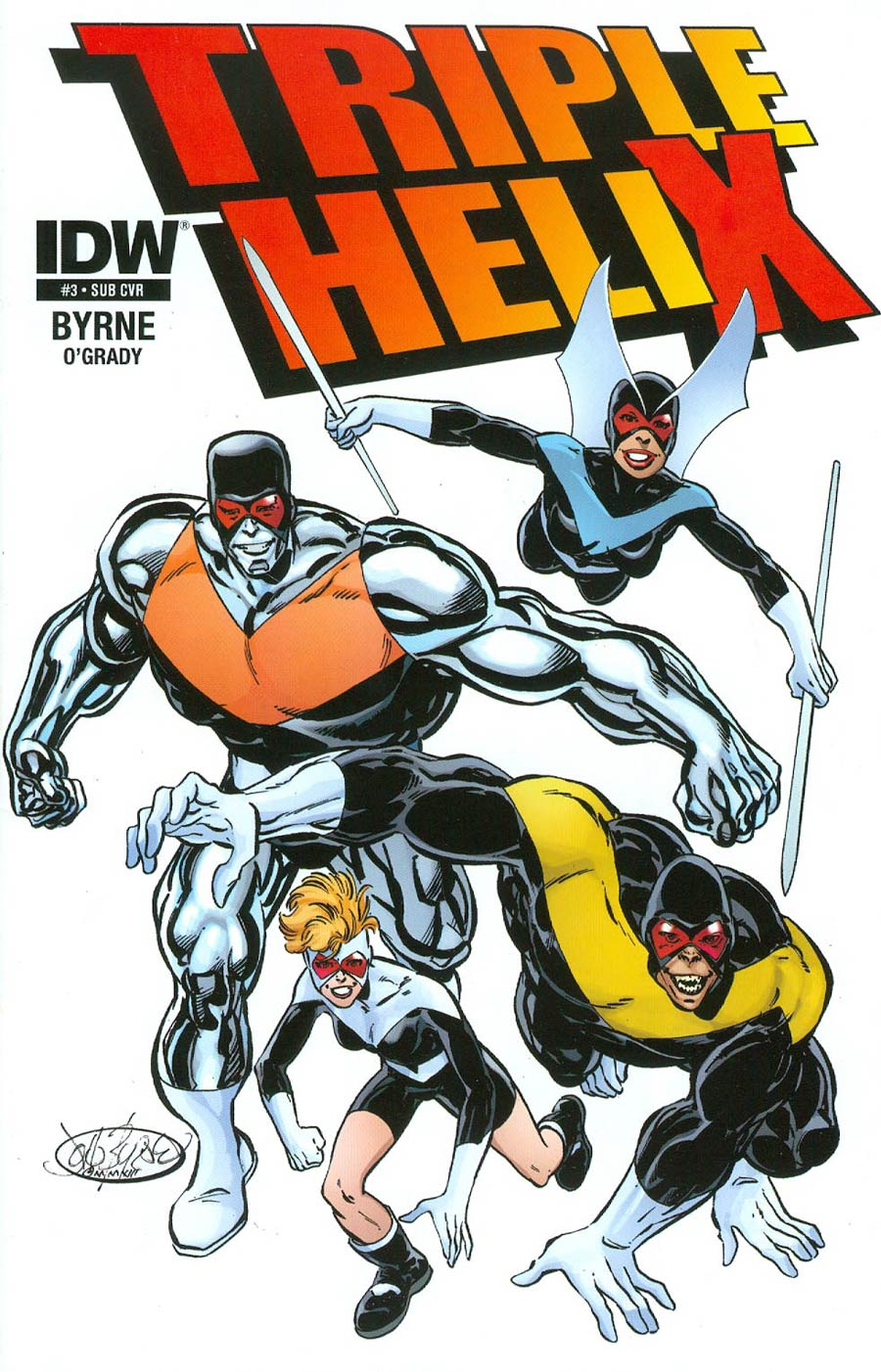 Triple Helix #3 Cover B Variant John Byrne Subscription Cover