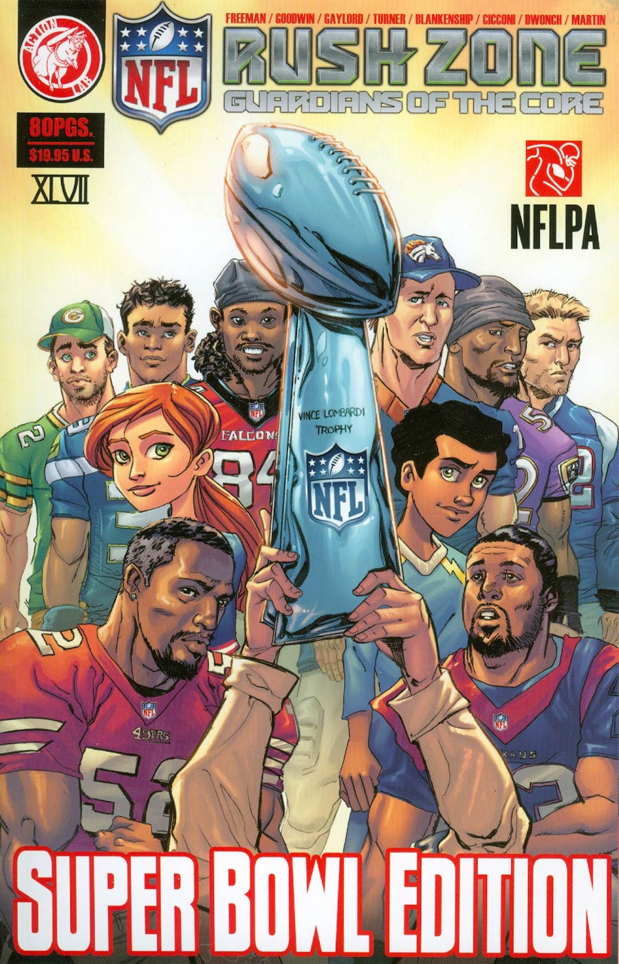 NFL Rush Zone Guardians Of The Core Vol 1 Super Bowl Edition TP New Edition
