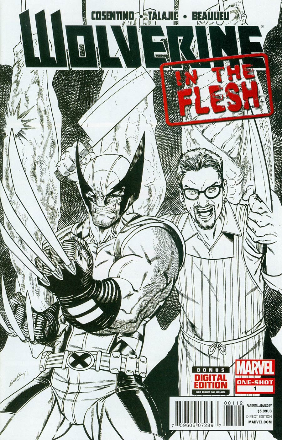 Wolverine In The Flesh #1 Cover B 2nd Ptg Tim Seeley Variant Cover