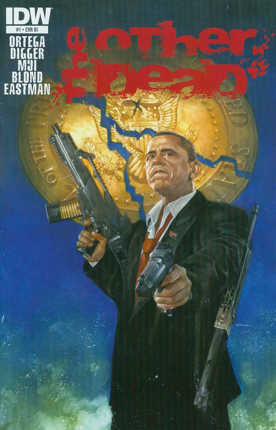 Other Dead #1 Cover C Incentive Dave Dorman President Obama Variant Cover