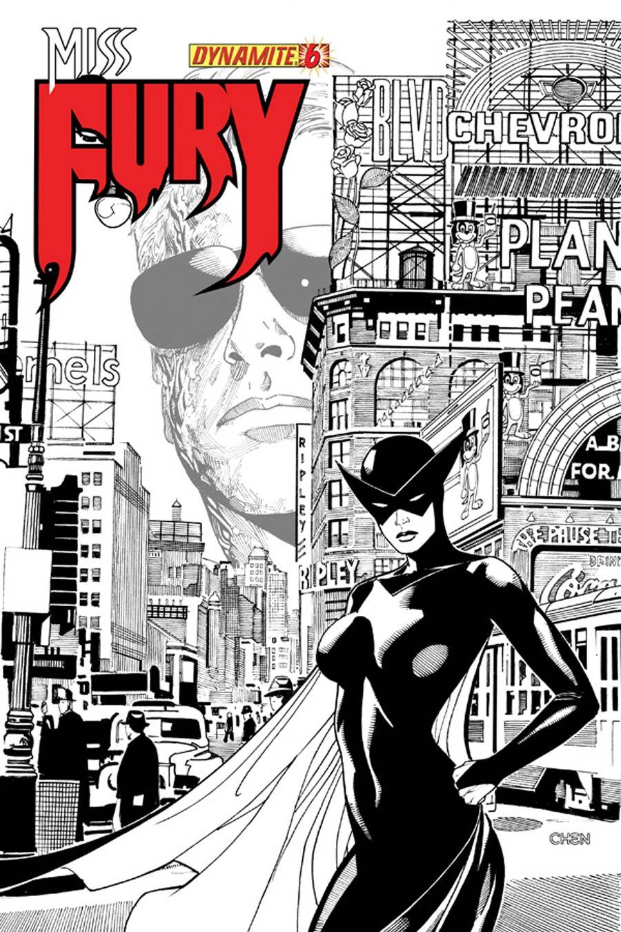 Miss Fury Vol 2 #6 Cover G Incentive Sean Chen Black & White Cover
