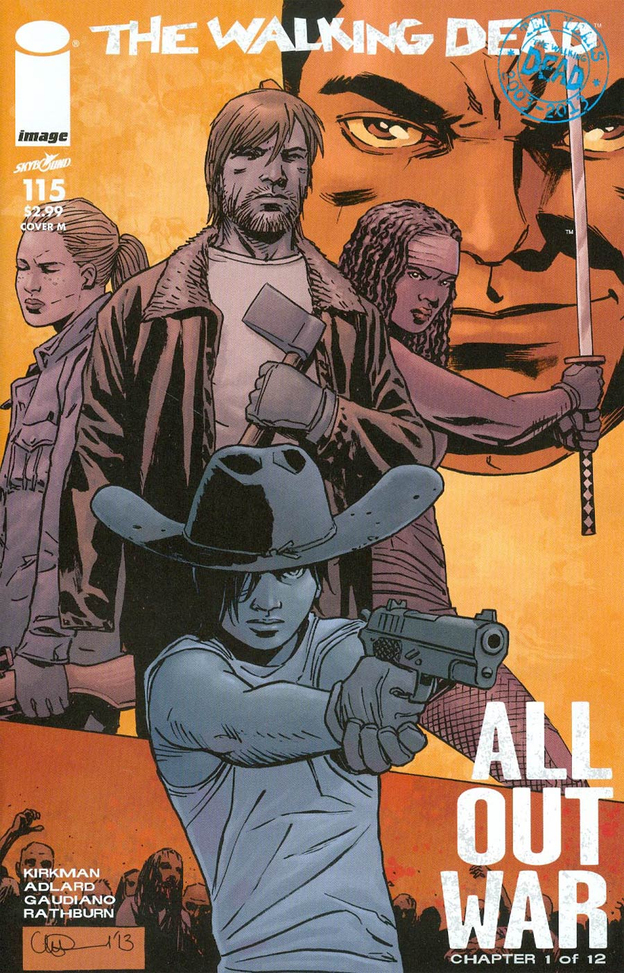 Walking Dead #115 Cover M Midnight Release Variant Cover