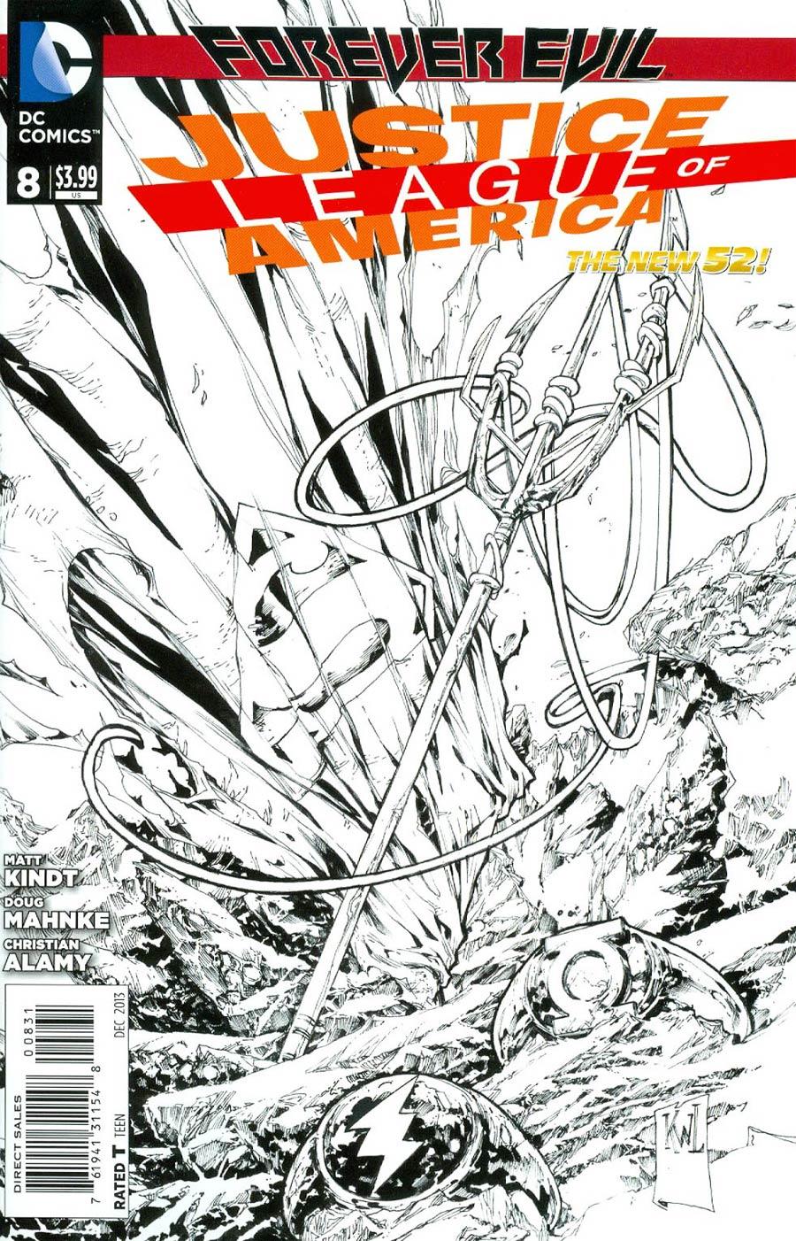 Justice League Of America Vol 3 #8 Cover E Incentive Ken Lashley Sketch Cover (Forever Evil Tie-In)