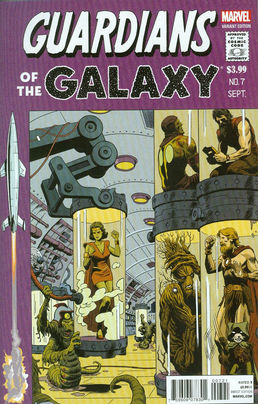 Guardians Of The Galaxy Vol 3 #7 Cover D Incentive Paolo Rivera Variant Cover