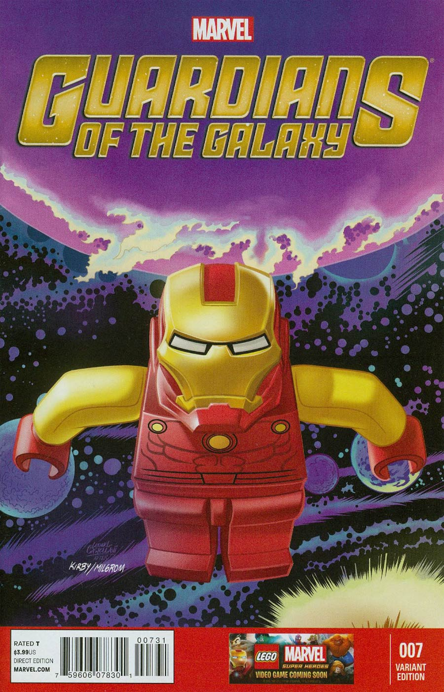 Guardians Of The Galaxy Vol 3 #7 Cover E Incentive Leonell Castellani Lego Color Variant Cover
