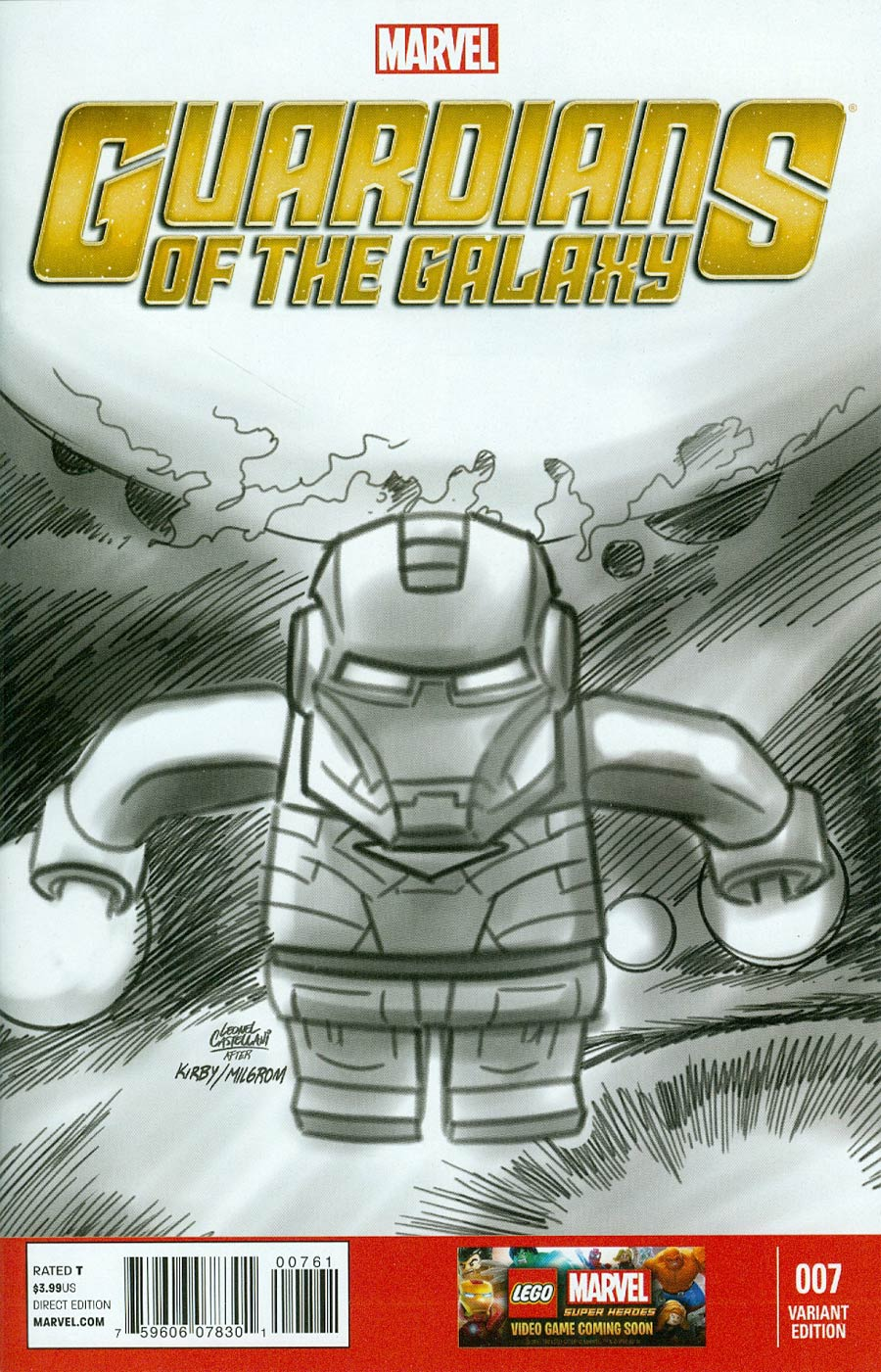 Guardians Of The Galaxy Vol 3 #7 Cover F Incentive Leonell Castellan Lego Sketch Variant Cover