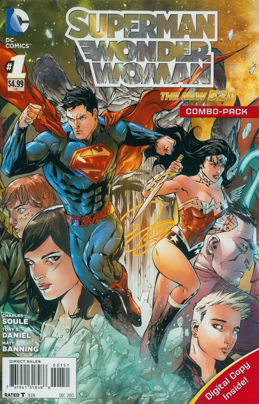 Superman Wonder Woman #1 Cover D Combo Pack Without Polybag