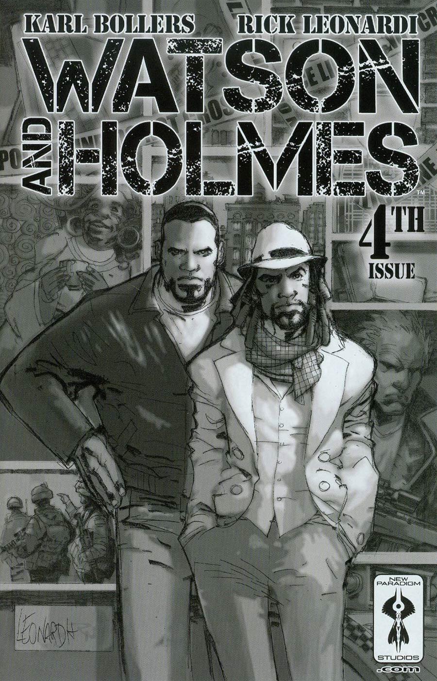 Watson And Holmes #4 Cover B Regular Rick Leonardi Black & White Cover