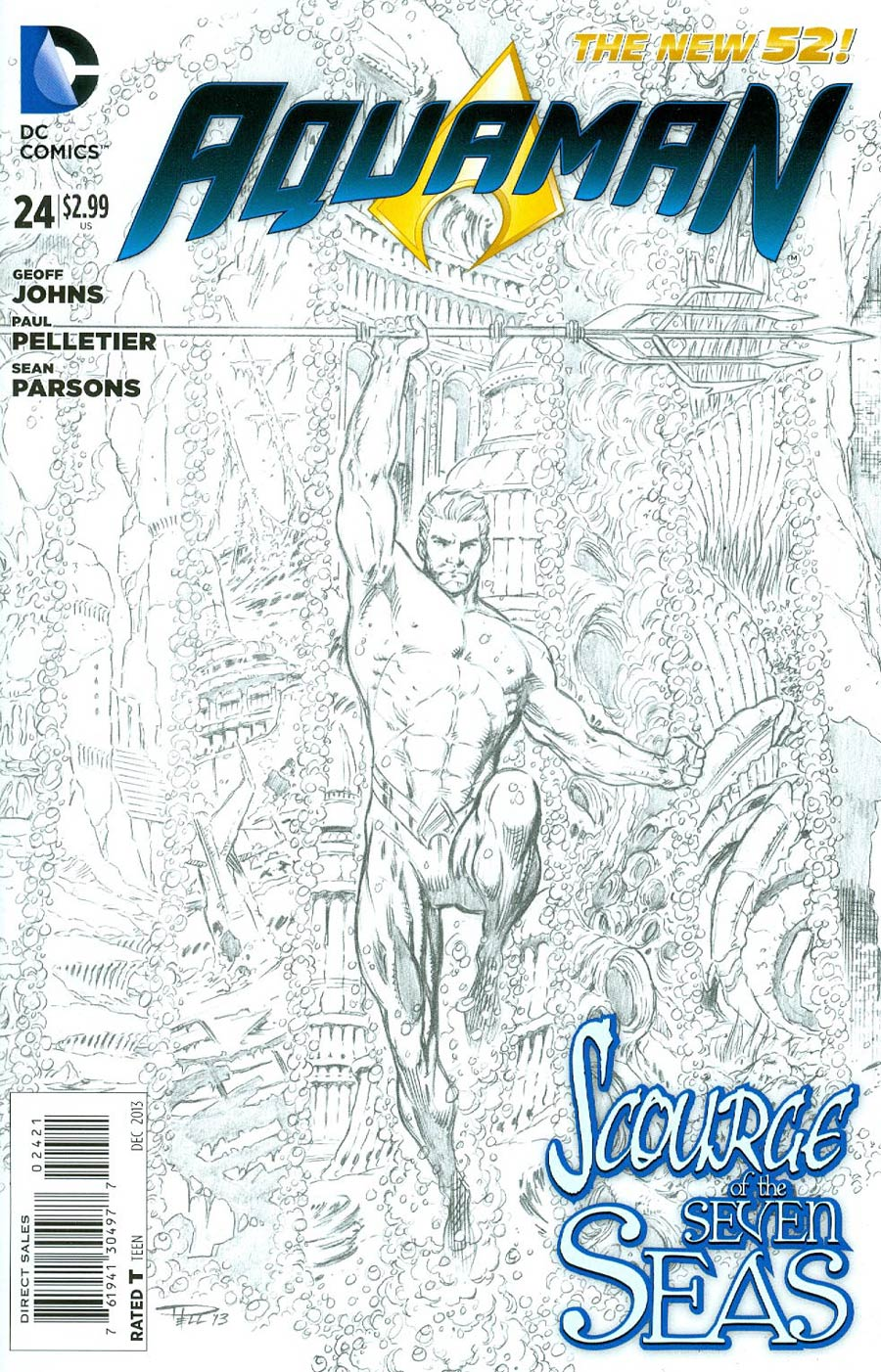 Aquaman Vol 5 #24 Cover B Incentive Paul Pelletier Sketch Cover